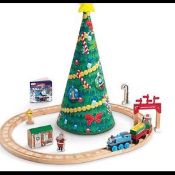 Thomas The Train Christmas Set.Bnib Thomas The Train Wooden Christmas Tree Set